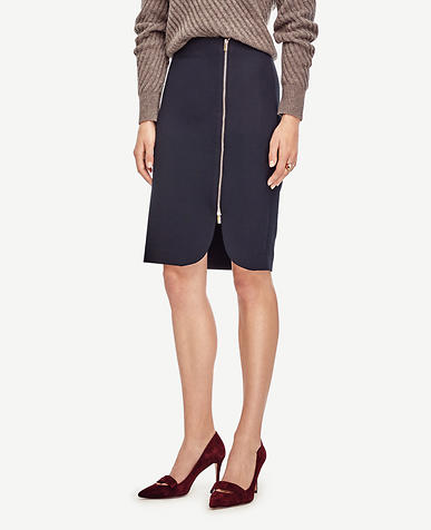 Image of Side Zip Pencil Skirt