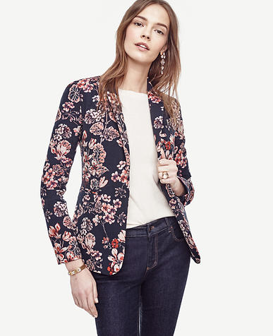 Image of Winter Geranium Jacquard Blazer