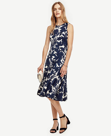 Image of Petite Tropic Swaying Midi Dress