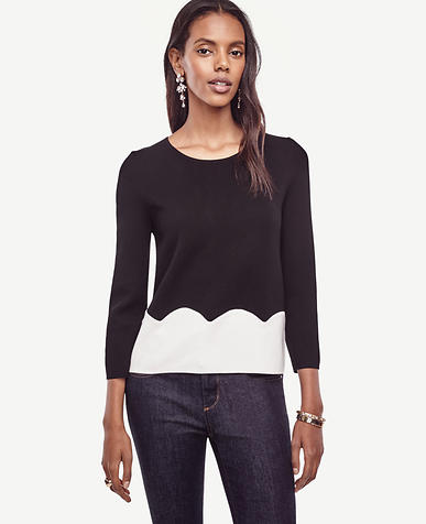 Image of Scalloped Sweater