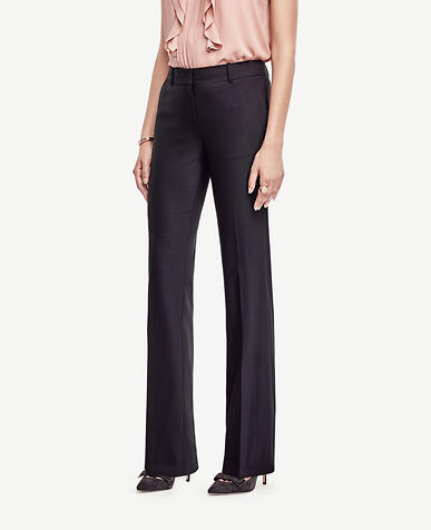 The Petite Trouser In Tropical Wool - Ann Fit