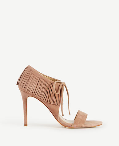 Image of Toni Suede Fringe Sandals