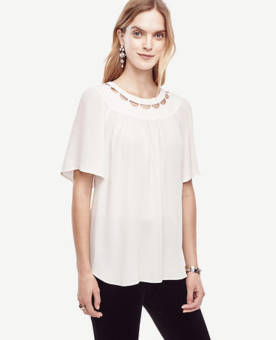 Image of Scalloped Cutout Tee