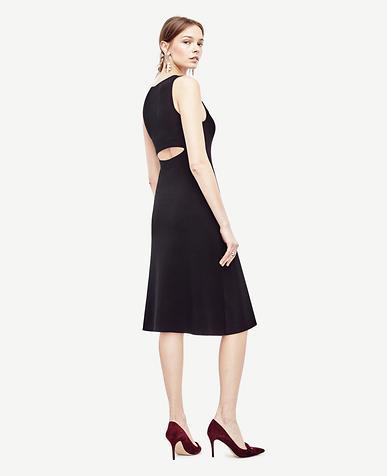 Image of Petite Back Slit Sweater Dress