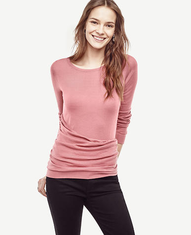 Image of Draped Extrafine Merino Wool Sweater