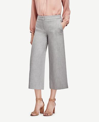 Image of Petite Wide Leg Crop Pants