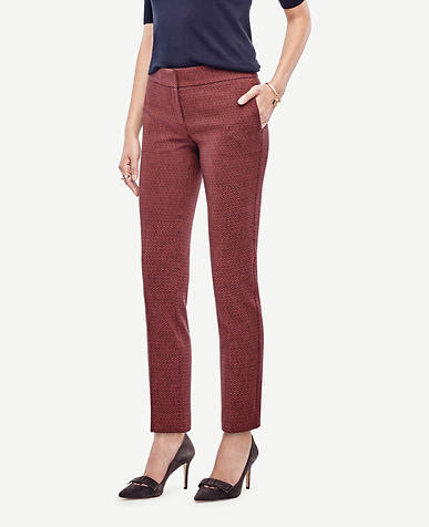 Image of Petite Kate Geo Everyday Ankle Pants