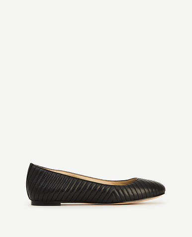 Image of Ida Quilted Leather Flats