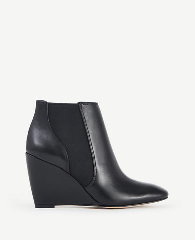 Image of Birgitte Leather Wedge Booties