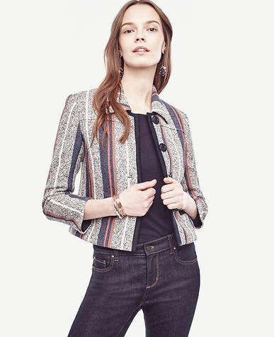 Image of Racer Stripe Tweed Jacket