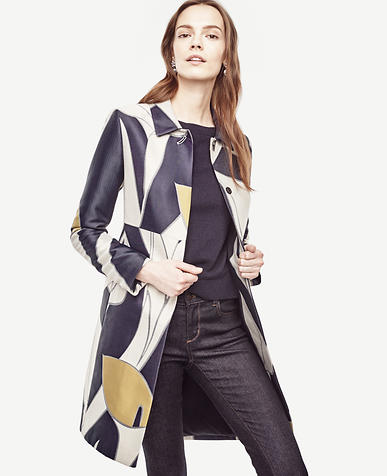 Image of Calla Lily Jacquard Coat