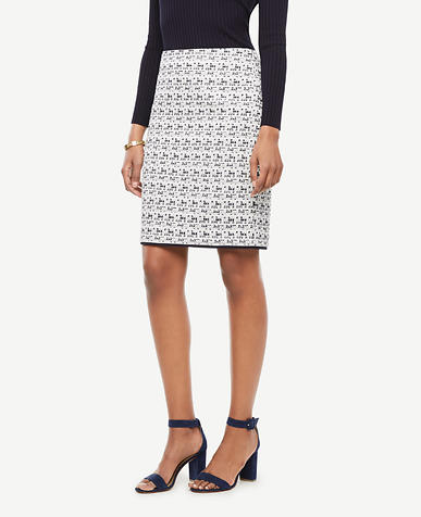 Image of Textured Tweed Pencil Skirt