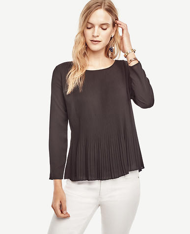 Image of Pleated Flounce Top