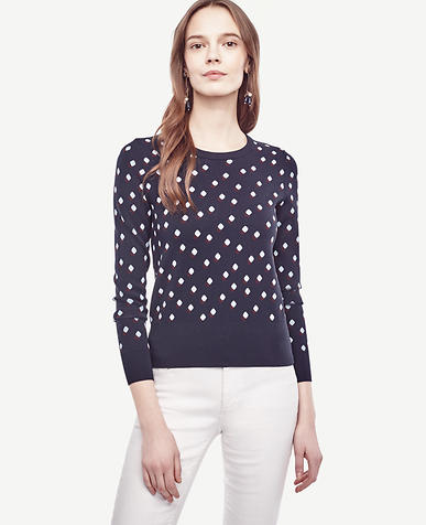 Image of Dot Jacquard Sweater