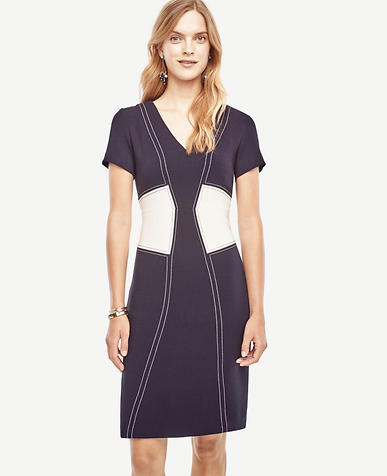 Image of Stitch Bodice Sheath Dress