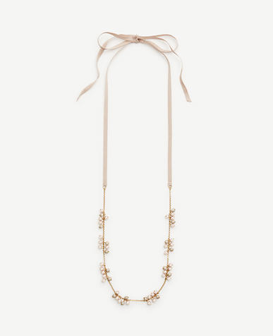 Image of Pearlized Ribbon Layering Necklace