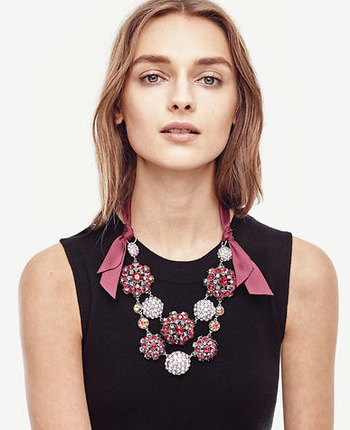 Image of Jeweled Ribbon Necklace