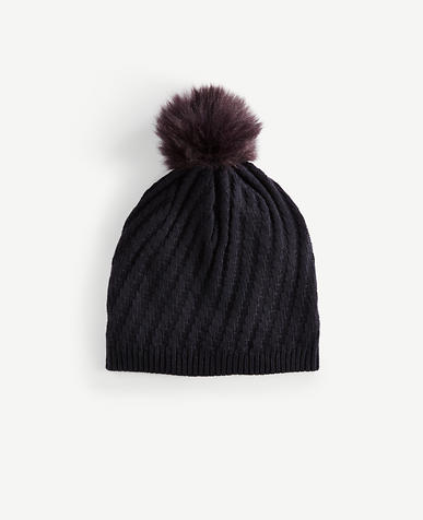 Image of Ribbed Pom Pom Hat