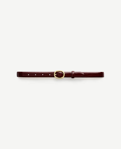 Image of Patent Leather Skinny Belt