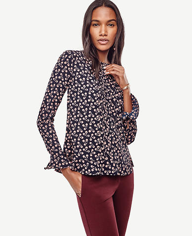 Image of Petaled Bell Sleeve Blouse