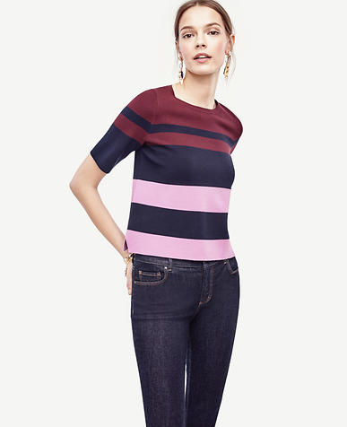 Image of Petite Colorblocked Knit Topper