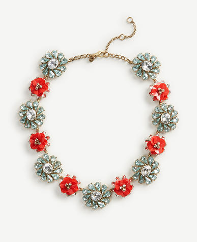 Image of Sequin Floral Crystal Necklace