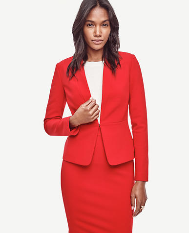 Image of Seamed Crepe Jacket