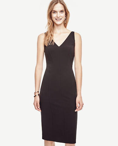 Image of Petite Triacetate Seamed Sheath Dress