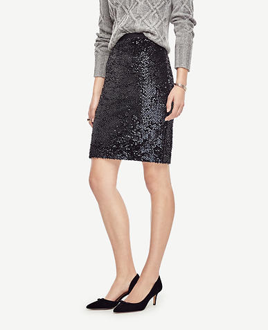 Image of Sequin Pencil Skirt