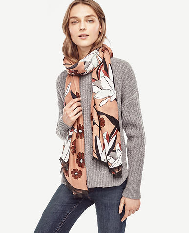 Image of Abstract Floral Scarf