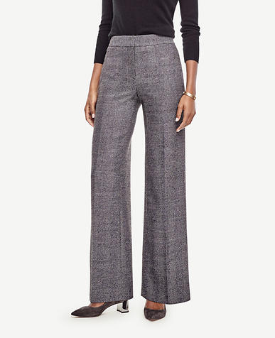 Image of Herringbone High Waist Wide Leg Pants