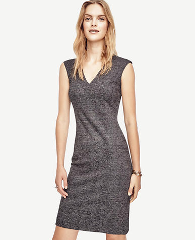 Image of Glen Plaid Flounce Sheath Dress