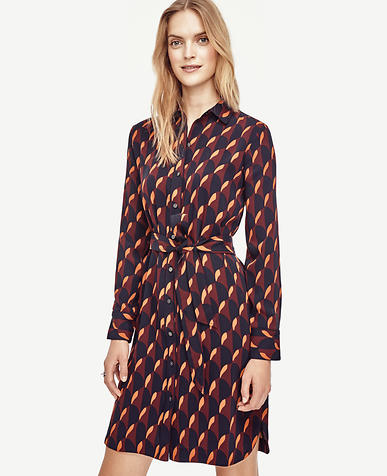 Image of Scallop Shirtdress