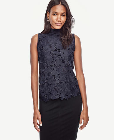 Image of Lace Front Sleeveless Top