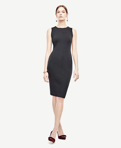 Image of Ponte Seamed Sheath Dress