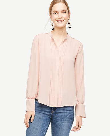 Image of Cutout Pleated Blouse