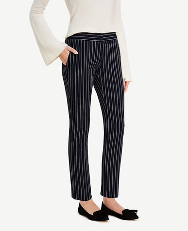 Image of The Ankle Pant in Stripes - Devin Fit