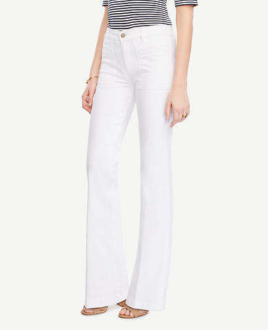 Image of Patch Pocket Flare Jeans