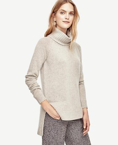 Image of Cashmere Turtleneck Tunic Sweater
