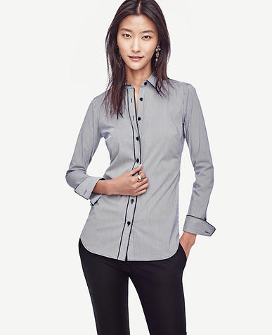 Image of Tipped Stripe Perfect Shirt