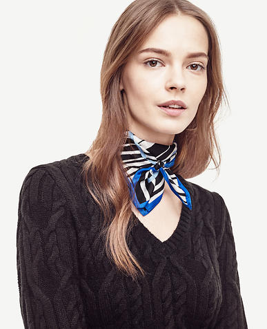 Image of Zebra Silk Little Scarf