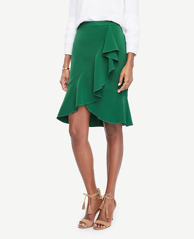 Image of Ruffled Pencil Skirt