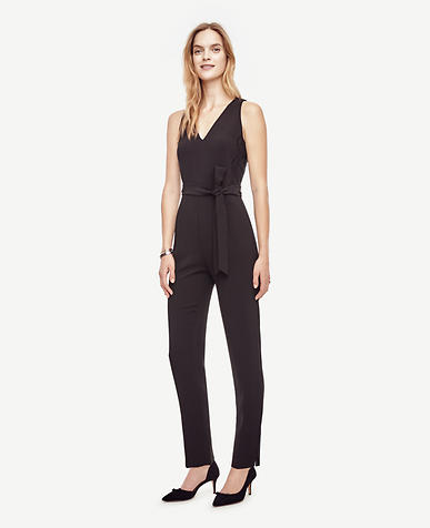 Image of Lacy Belted Jumpsuit
