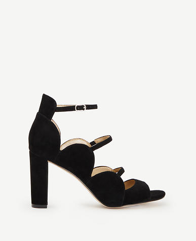 Image of Ashton Suede Scalloped Heels