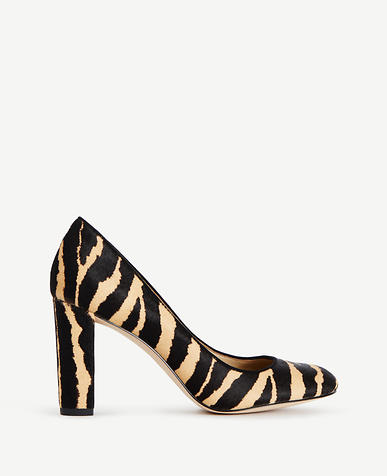 Image of Drea Zebra Print Haircalf Pumps