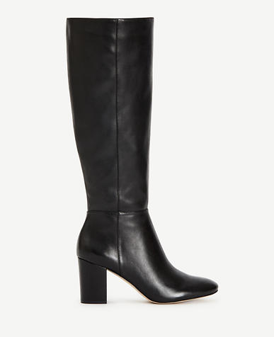 Image of Florence Leather Heeled Boots