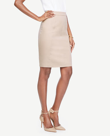 Image of Cotton Sateen Pencil Skirt
