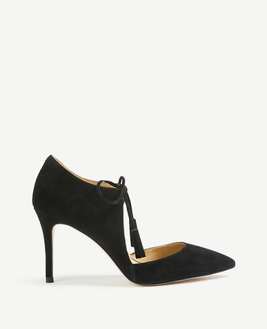 Image of Adalaide Suede Tassel Pumps