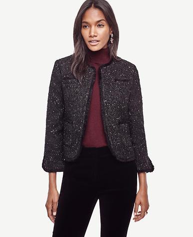 Image of Petite Shimmer Tweed Jacket