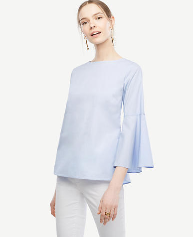 Image of Fluted Sleeve Poplin Shirt